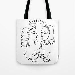 Pablo Picasso Women With A Dove 1955 T Shirt, Artwork Sketch Tote Bag