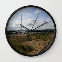 View Towards Pont y Ddraig Harbour Bridge Wall Clock