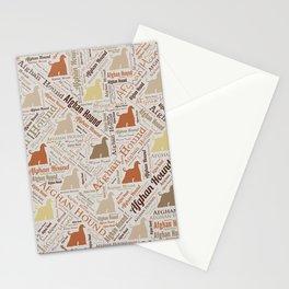 Afghan Hound Word Art Stationery Cards