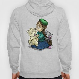 Playing And Cuddling With Cats Hoody