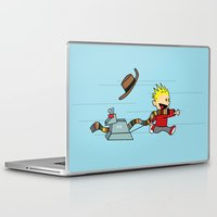 hobbes Laptop & iPad Skins featuring Playing Doctor by darustinator