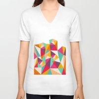 diamond V-neck T-shirts featuring Diamond by Kakel