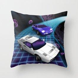 Lunar Highway Race Throw Pillow