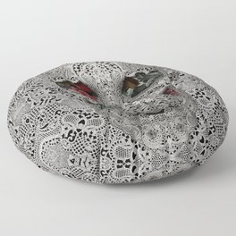 Lace Skull 2 Floor Pillow