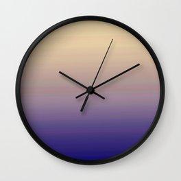 Modern navy blue purple lavender ivory ombre Wall Clock