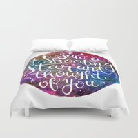tfios Duvet Covers featuring Shooting Star by Christina Guo