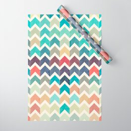 Watercolor Chevron Pattern Wrapping Paper