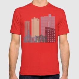 Fort Worth skyline poster T-shirt