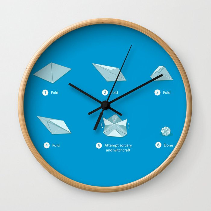 Step-by-step Origami Wall Clock