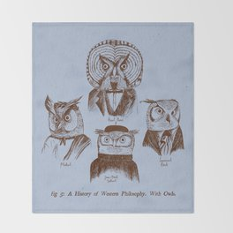 A History of Western Philosophy. With Owls. Throw Blanket