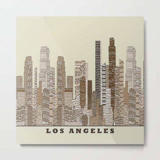 los angeles city Metal Print