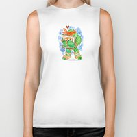 teenage mutant ninja turtles Biker Tanks featuring Teenage Mutant Ninja Turtles Hug by Super Group Hugs