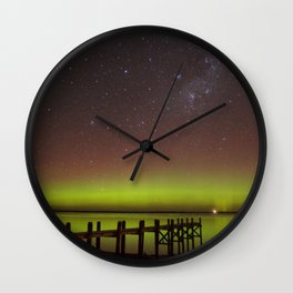 Aurora Boreal Lakeside Wall Clock