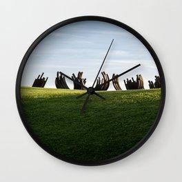 Metal Ribs Wall Clock
