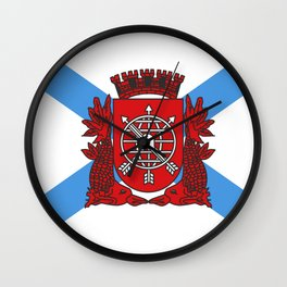 flag of Rio de Janeiro Wall Clock