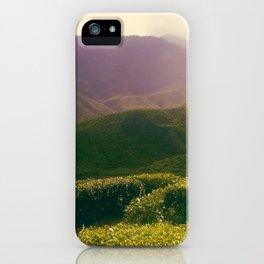 Tea Hills iPhone Case