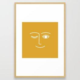 wink / mustard Framed Art Print