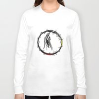 medicine Long Sleeve T-shirts featuring WOVEN MEDICINE by Fluffydstroyer