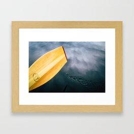 Paddle Drops Framed Art Print