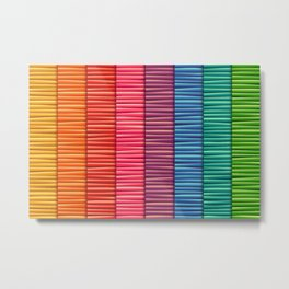 Abstract colorful stripes pattern Metal Print