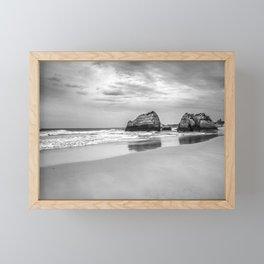 Stone beach Praia da Rocha Framed Mini Art Print