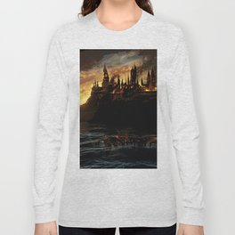 Harry Potter - Hogwart's Burning Long Sleeve T-shirt
