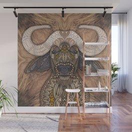 African Buffalo Wall Mural