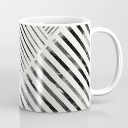Black and White Stripes, Abstract Coffee Mug