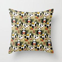 Pandas story time Throw Pillow