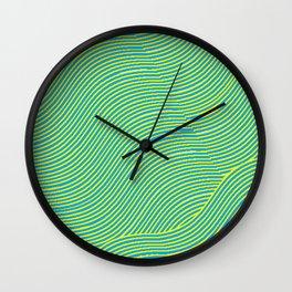 Obtuse Wave Wall Clock