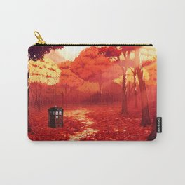 Tardis Autumn Tree Forest Carry-All Pouch