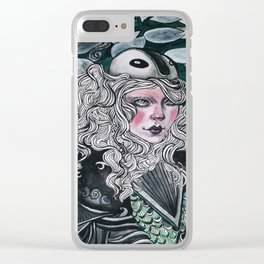 Lady Knight Clear iPhone Case
