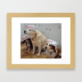 DoughnutDogs Framed Art Print