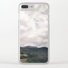 Cypress mountains and forests Clear iPhone Case