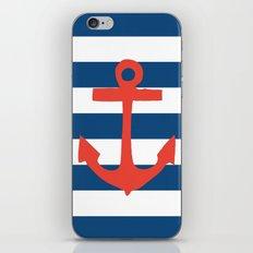 Red Nautical Stripe iPhone & iPod Skin