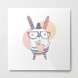 Mr.Rabbit Metal Print