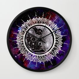 Galaxy Moon Mandala Wall Clock