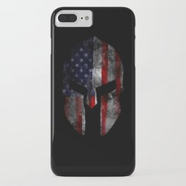 American Flag Spartan Helmet with Grunge Distress USA United States iPhone Case