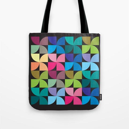 colorful semicircle pattern Tote Bag