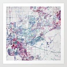 Sacramento map Art Print