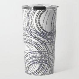 Abstract Stitched Circles Travel Mug