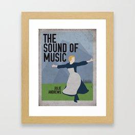 The Sound of Music Staring Julie Andrews Framed Art Print