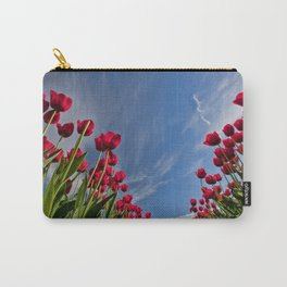 Red Tulips & Sky Carry-All Pouch