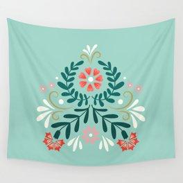 Floral Folk Pattern Wall Tapestry
