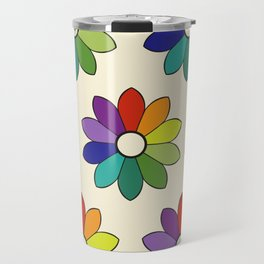 Flower pattern based on James Ward's Chromatic Circle (enhanced) Travel Mug