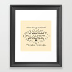 Economical Mourning and Funeral Warehouse Framed Art Print