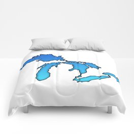 Great Lakes in Blue Comforters