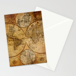 Vintage Map Stationery Cards