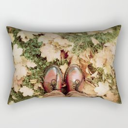 Shoes And Leaves Rectangular Pillow