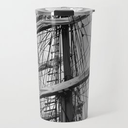 Sailing Ship black and white photo 2 Travel Mug